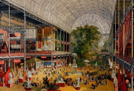 The Crystal Palace during the Great Exhibition of 1851 (via Wikimedia Commons)